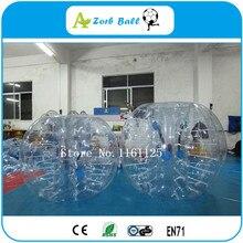 10 шт.+ 2 насоса, захватывающая подвижная игра пузырь футбол с размером 1,2 м, ТПУ стук мяч, пузырь футбол, бампер