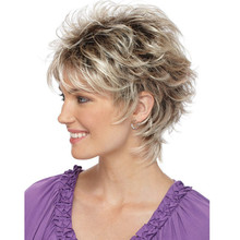 StrongBeauty Frauen Short Straight Bloned Mix synthetische volle Perücken