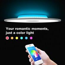 Modern LED ceiling light RGB dimming bluetooth speaker 36W APP control living room bedroom smart lamp 90-265V