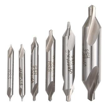 цена на 1pc  HSS High Speed Steel Center Drill Bits Set Precision Combined Countersinks Kit 60 Degree Angle 1mm 2mm 3mm 5mm Power Tools