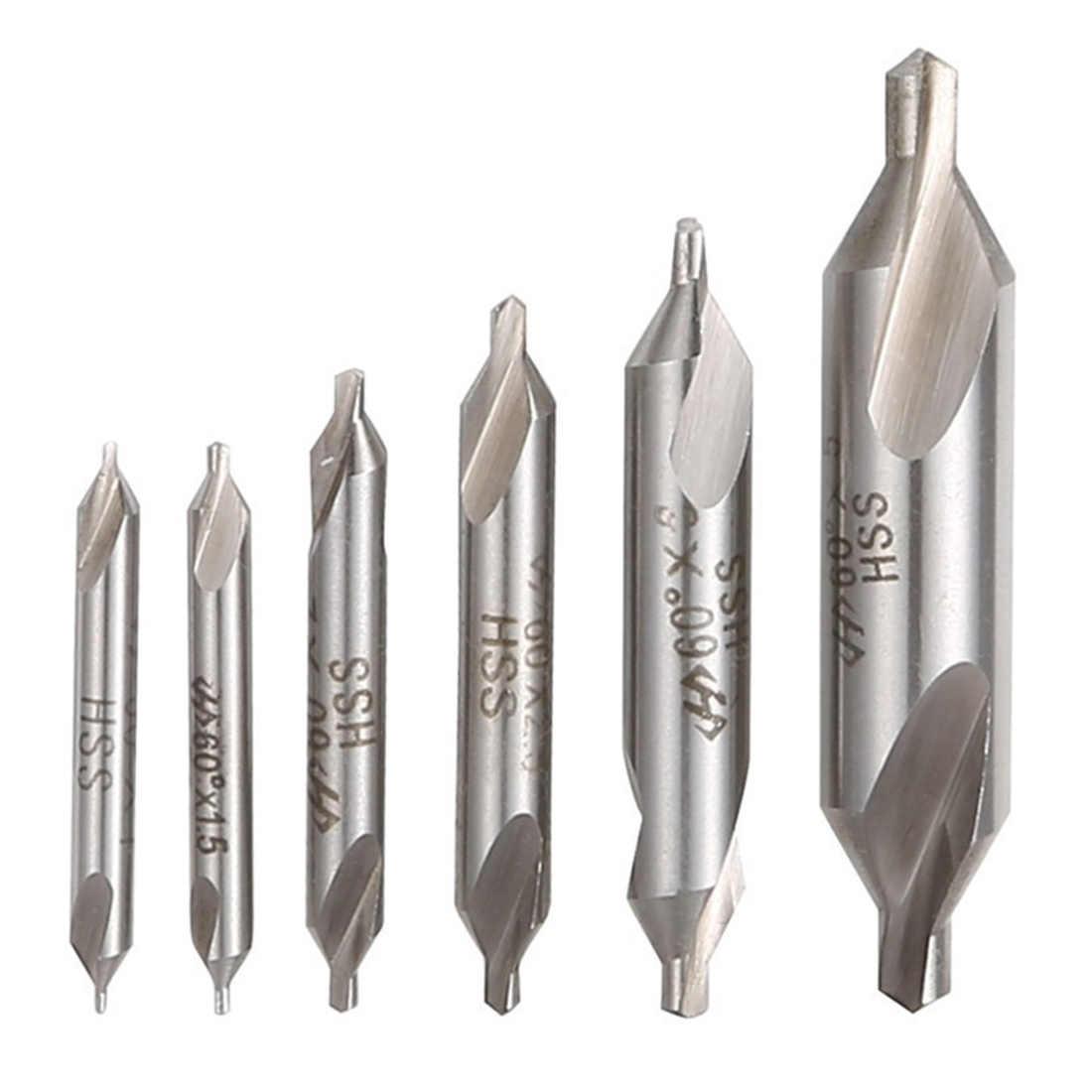 Forets centraux combinés en acier rapide HSS 60 degrés ensemble de forets de fraisage 1mm 2mm 3mm 5mm pour accessoires d'outils électriques