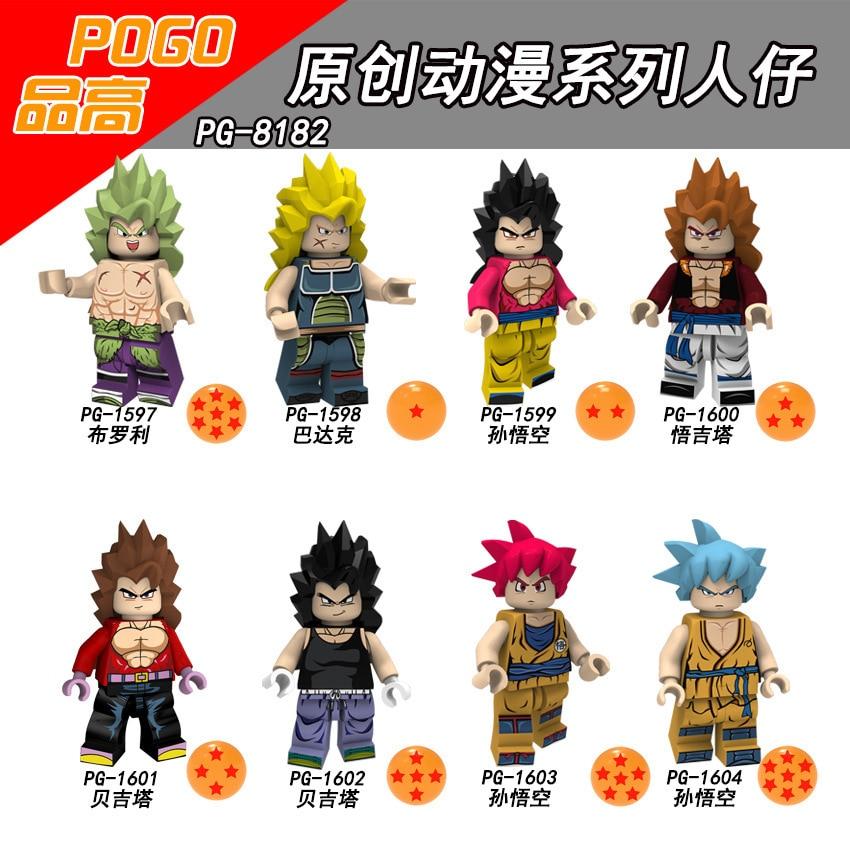 Bausteine Dragon Ball Z Broli Klette Sohn Goku Gogeta Vegeta Action figuren Geschenk Spielzeug Gor Kinder Kinder PG8182-in Sperren aus Spielzeug und Hobbys bei  Gruppe 1