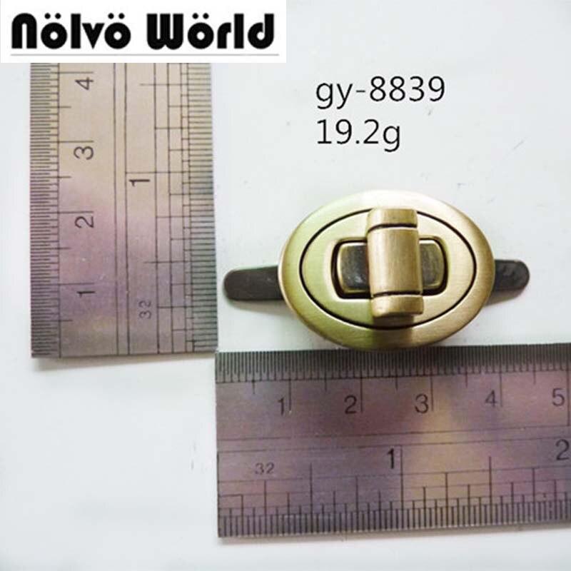 20pcs 5 Colors 27*20mm Twist Turn Lock,brush Antique Brass DIY Handmade Lock For Leather Bags Purse