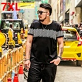 Big size people code T-shirt fashion brand size Mens 7XL 280 pounds can wear large yards in summer half sleeve