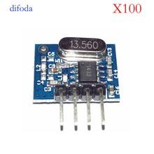 100piece superheterodyne 433mhz RF Wireless Transmitter Module Small Size Low Power for remote control adruino diy kit стоимость