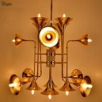New Design Delightfull Botti Chandelier Post Modern Minimalism Speaker Led Pipe Pendant Chandelier Loft Gold Suspension Lamp