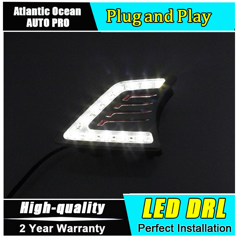 Car Styling LED Daytime Running Light for Toyota Hilux DRL Vigo 2012-2014 led driving fog lamp LED lights lyc fog light universal led for car lights car led driving lamps daytime running light switch automatic for toyota drl led lamp