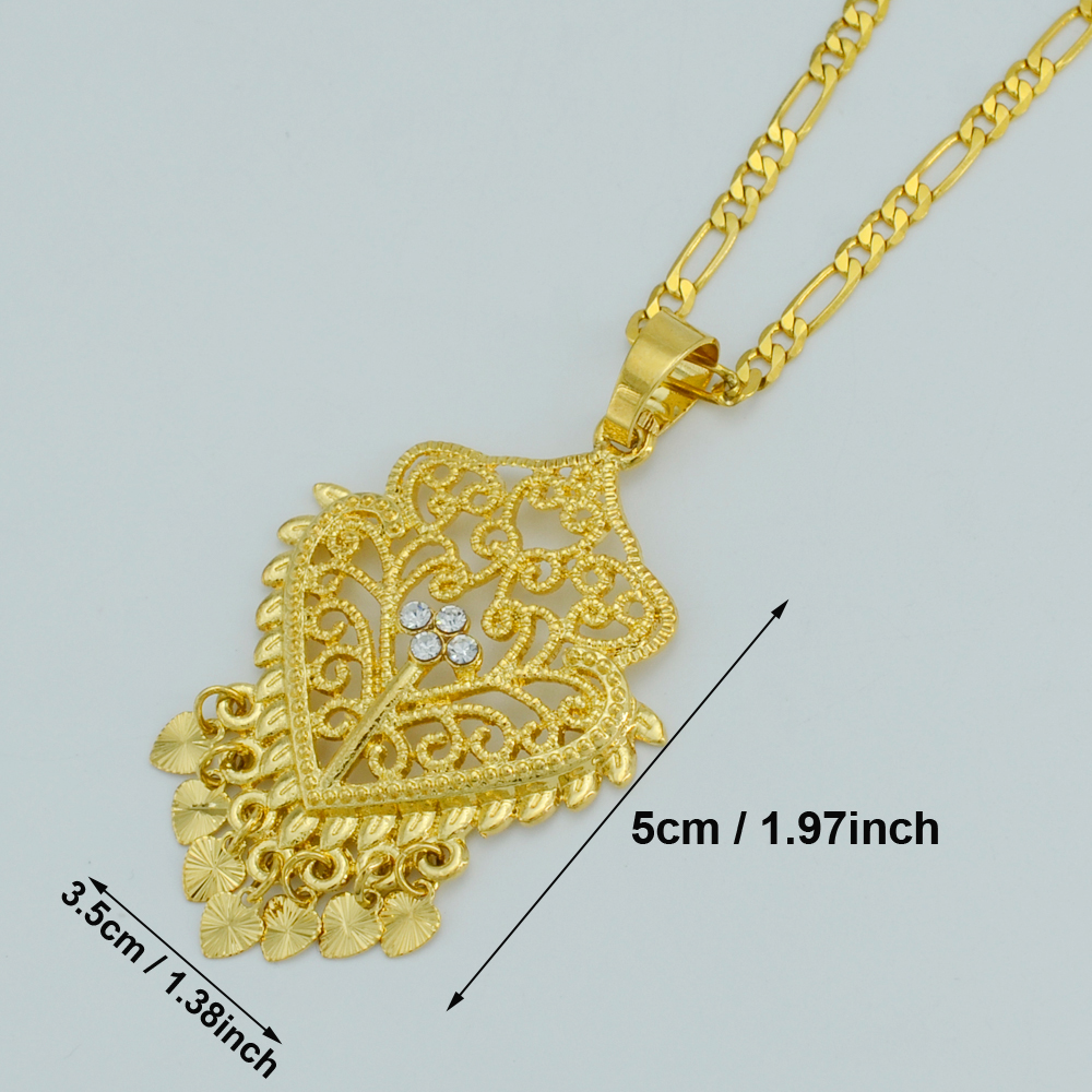 Anniyo Heart Africa Pendant Necklaces For Women Dubai Necklace Girls Arab Jewelry Mom Gift Nigeria Sudan Ethiopian 026306 Buy At The Price Of 2 81 In Aliexpress Com Imall Com