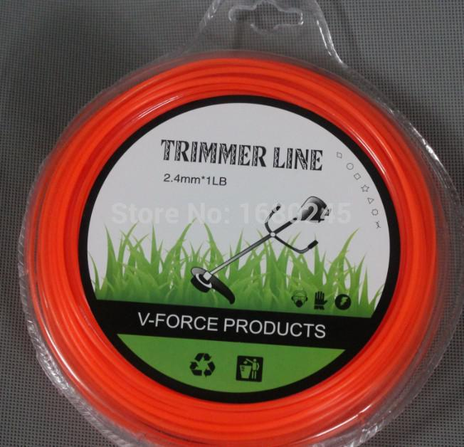Garden tools spare parts brush cutter Roll 2.6mmX 90m Trimmer Line Spool Whipper Snipper Cord  Grass trimmer head Nylon line mini garden nylon grass trimmer line light purple 15m