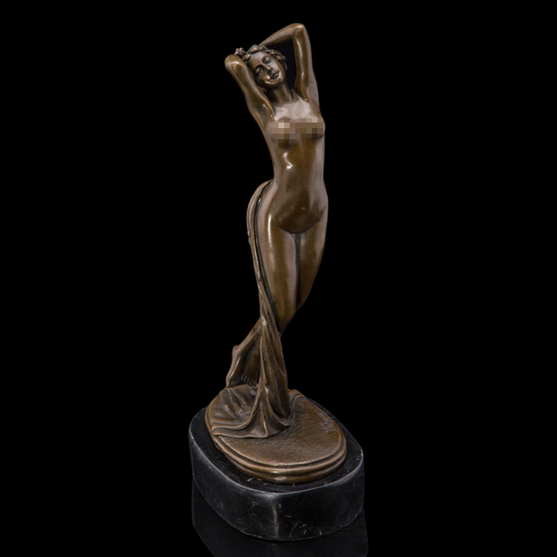 ATLIE Bronze Western Nude Female Sculpture Modern Sexy Naked Woman Brass Statue Figurine for Bar Nightclub DecorationATLIE Bronze Western Nude Female Sculpture Modern Sexy Naked Woman Brass Statue Figurine for Bar Nightclub Decoration