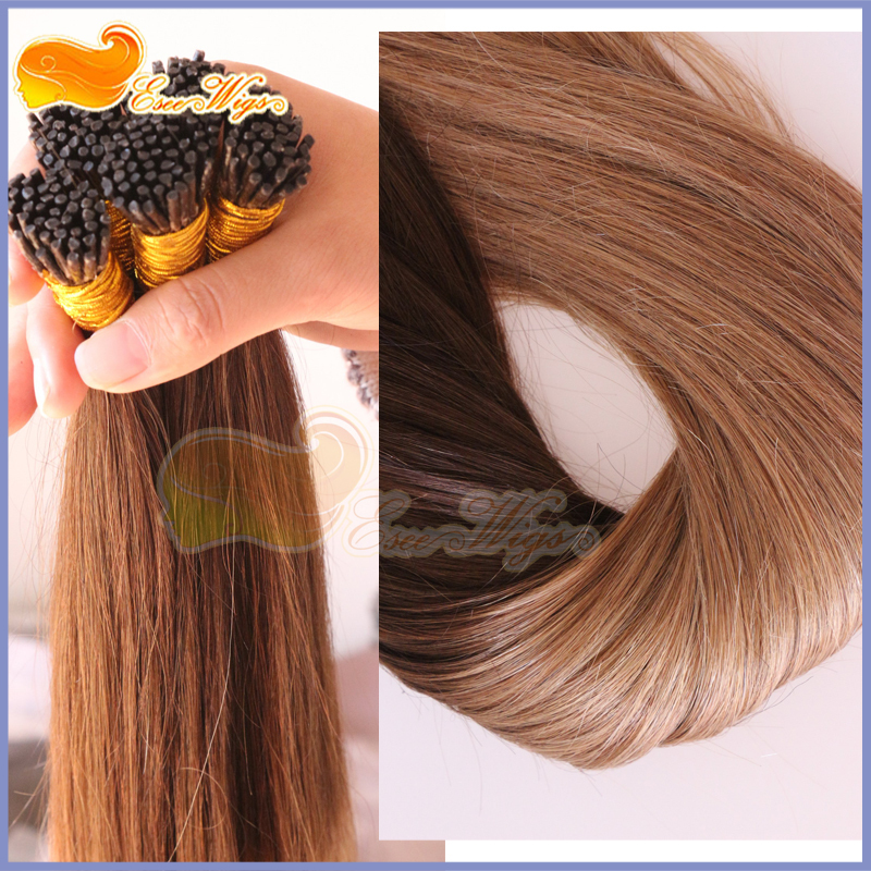 Free Shipping Ombre I Tip Hair Extensions 1g 4t8 2 Tone Brazilian