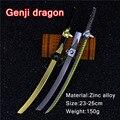 Genji dragón armas dardos de aleación de zinc giratoria ninjia galvanoplastia dardos pioneer modelo de aleación de juguetes