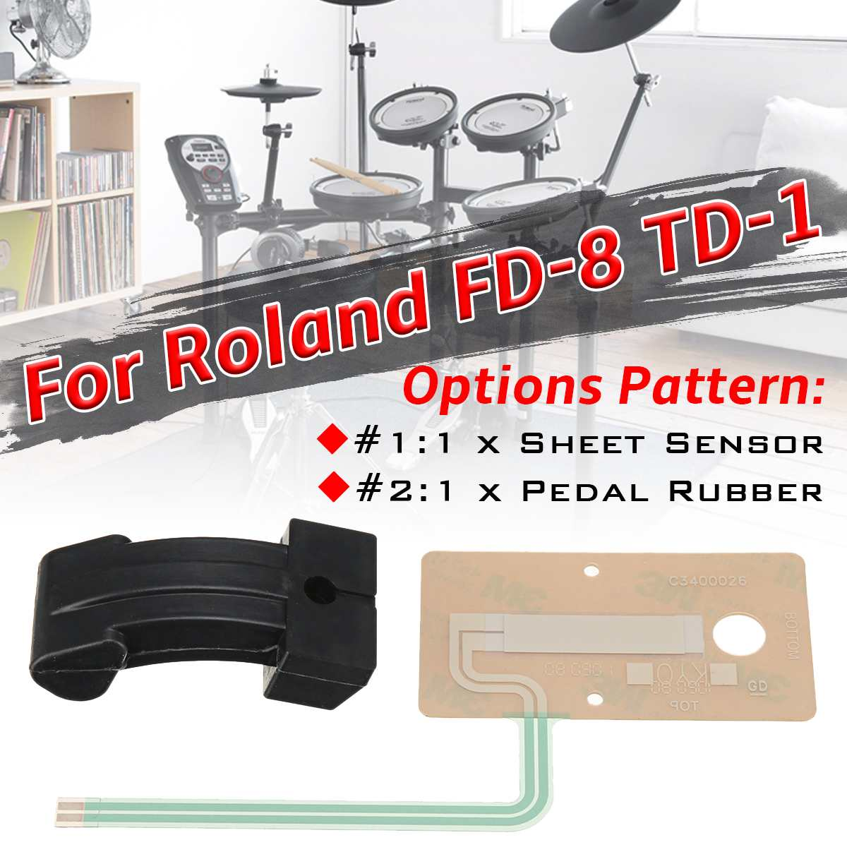 Drum Accessories Sheet Sensor Pedal Rubber Actuator Replacement Part Fits For Roland FD-8 TD-1 Hi Hat Pedal Rubber Part