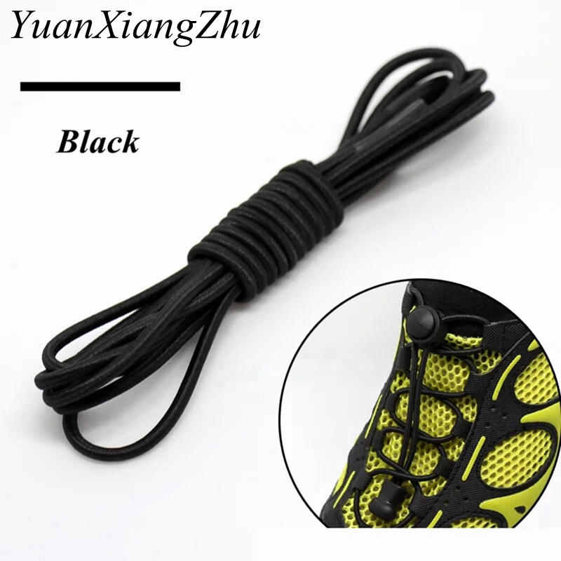 100CM Stretching Lock Lace 22Colors A Pair Locking Shoe Laces Elastic Sneaker Shoelaces Shoestrings Running/Jogging/Triathlon T1