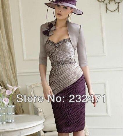 2013 Strapless+Free Jacket Evening Dress chiffon tea length mother bride dresses gowns - cn1501580548 store