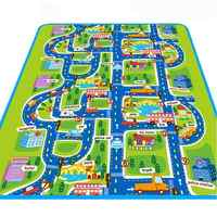 Large Foldable City Road Traffic Crawling Blanket Floor Carpet Rug Play Mat EVA Foam Climbing Pad Gift for Newborn Baby Children