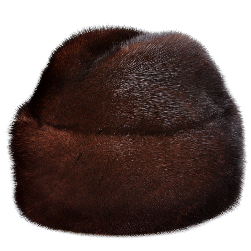 RY0205 LUXURY 2017 Winter Men Import Mink Full Leather Fur Bomber Hats French Style Male Cold Protect Real Fur Black/Brown Caps