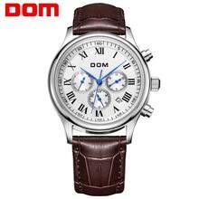 DOM hombres relojes de primeras marcas de lujo reloj resistente al agua reloj de cuero reloj mecánico reloj hombre de Negocios marca de lujo M-56
