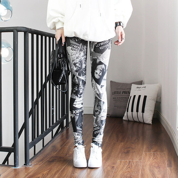Fashion Leggings Sexy Casual Highly Elastic and Colorful Leg Warmer Fit Most Sizes Leggins Pants Trousers Woman's Leggings 4