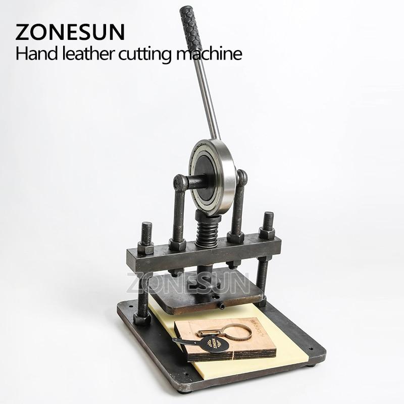 ZONESUN cuir machine de découpe 20x14cm pour papier photo PVC/EVA feuille moule coupe découpe cuir estampage artisanat - 6