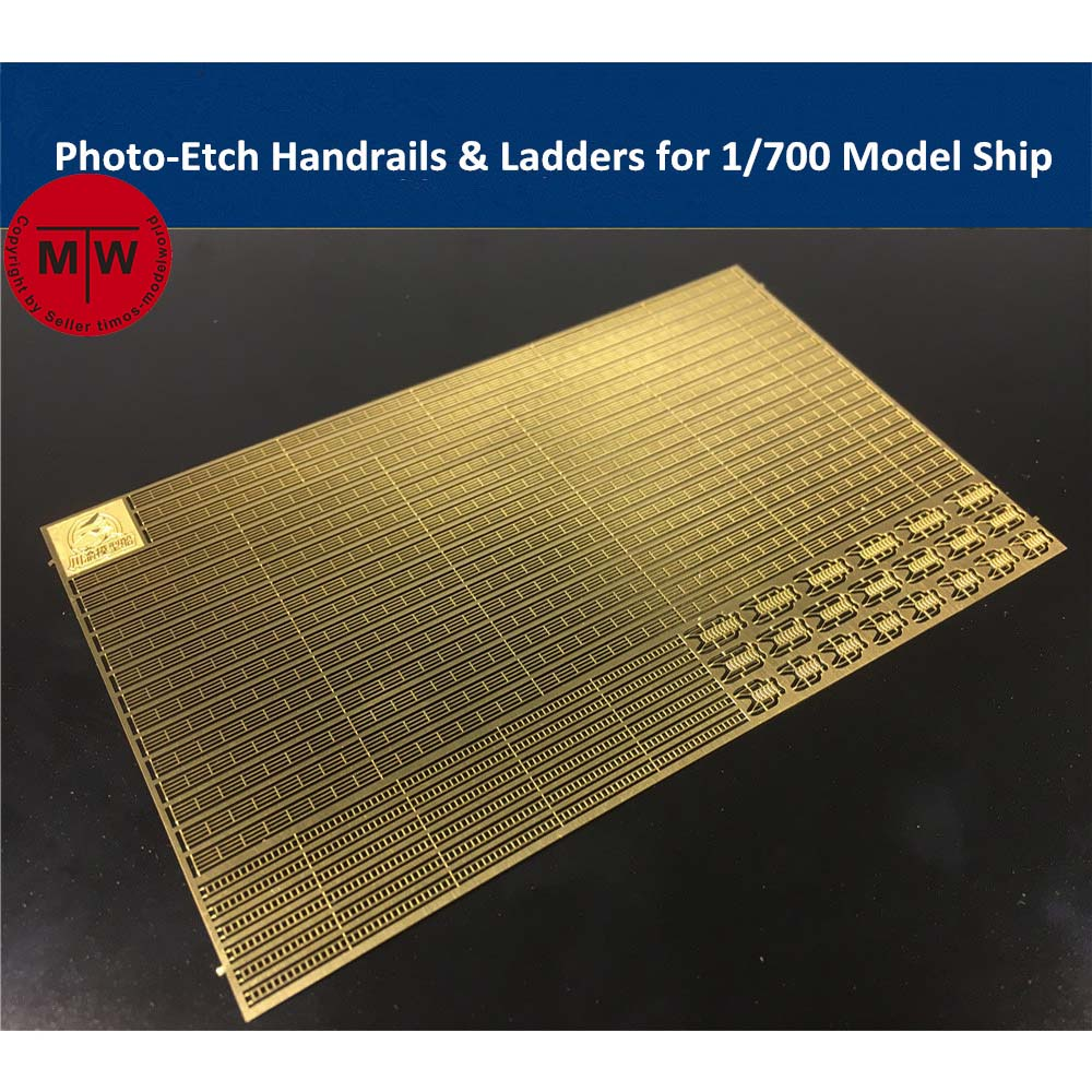 Photo-Etched PE Handrail & Ladder for <font><b>1</b></font>/<font><b>700</b></font> <font><b>Scale</b></font> <font><b>Model</b></font> <font><b>Ship</b></font> Kit CYPE005 image
