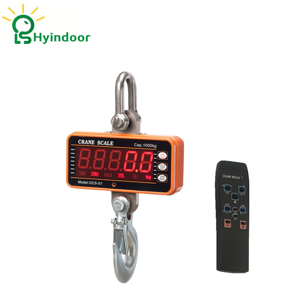1t High Resolution Electronic Weighing Scales Digital Hanging Hook Crane Scale(OCS-S1 1000) 30g 0 001g precision lcd digital scales gold jewelry weighing electronic scale