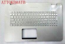 New US/UI/FR standard Laptop palmrest Keyboard for ASUS N751 N751J G771 G771JW GL771JM GL771JW With backlight with cover C