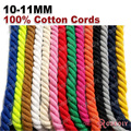 (29963)10mm-11mm 100% Cotton Three Strands Twisted Color Corps Rope Diy Findings Accessories 5 Meters