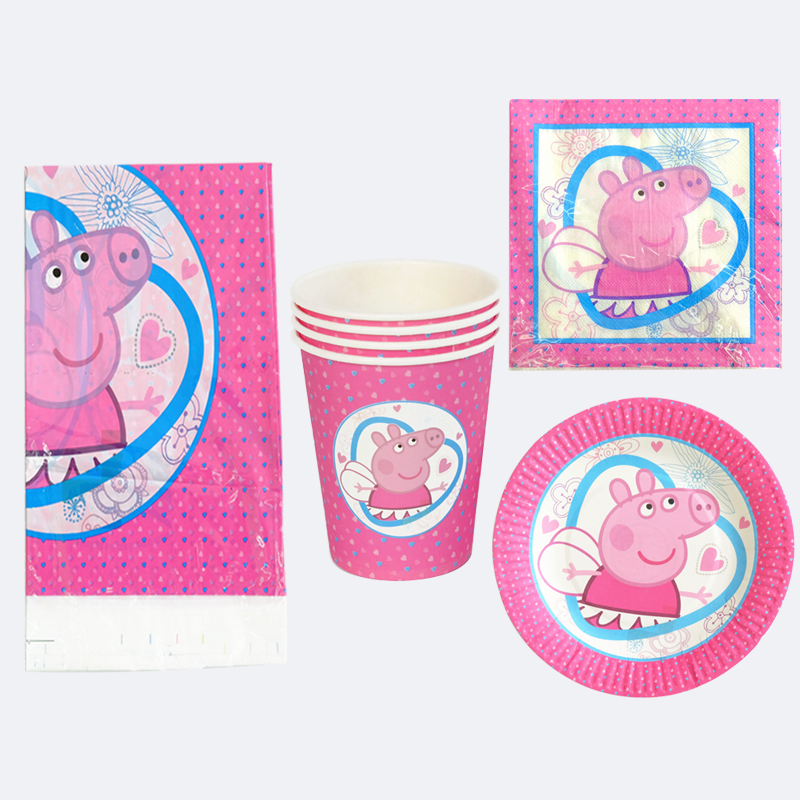 For 20 People Birthday Party Peppa Pig Tableware Set Decorate Cups Napkins Baby Shower Plates Kids Boys Favors tablecover 61pcs-in Disposable Party ...  sc 1 st  AliExpress.com & For 20 People Birthday Party Peppa Pig Tableware Set Decorate Cups ...