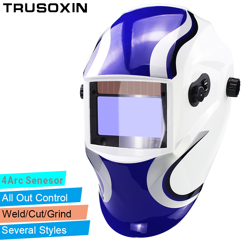 Out Adjust Big View Eara 4 Arc Sensor Grinding Cutting Solar Auto Darkening TIG MIG MMA Welding Mask/Helmet/Welder Cap/Face Mask