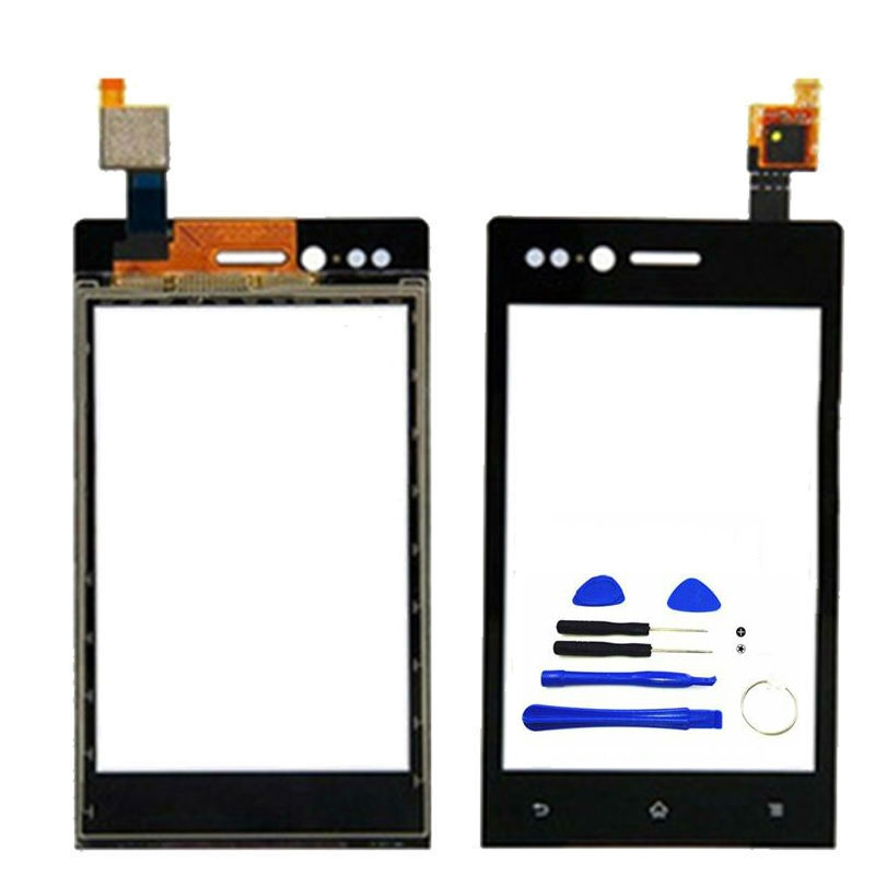 Ponsel Panel Depan Hitam untuk SONY Mesona Xperia Miro ST23i Sentuh Layar Digitizer (Bebas + 3 M Tape + Membuka Alat Perbaikan + Lem)