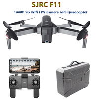 SJRC F11 GPS Drone with 5G Wifi FPV 1080P Camera Gesture Control Brushless Quadcopter 25mins Flight Time Foldable Selfie RC Dron