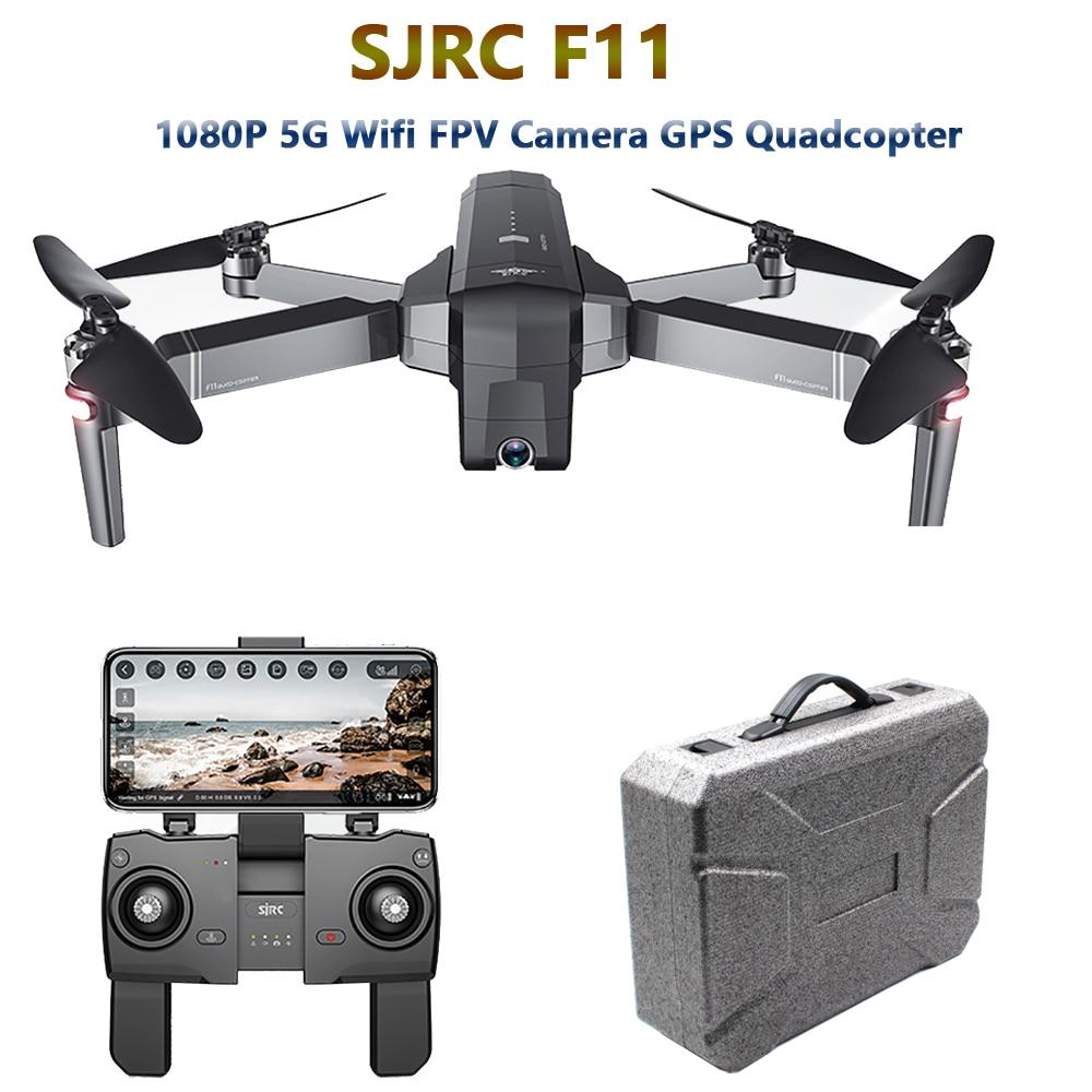 SJRC F11 GPS Zangão com 5G Wifi FPV 1080 P Câmera Gesto Controle Brushless Quadcopter 25 minutos de Tempo de Vôo dobrável Selfie RC Dron