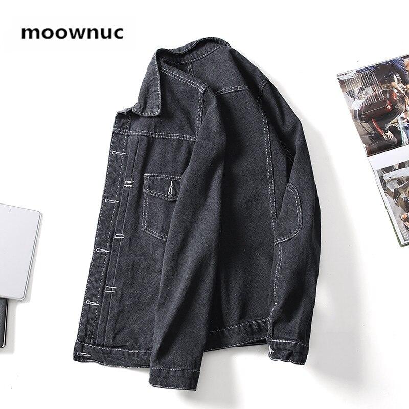 2019 Spring New arrival men's coat Men cotton Denim jacket Classic black Jean jackets men Plus size M 3XL