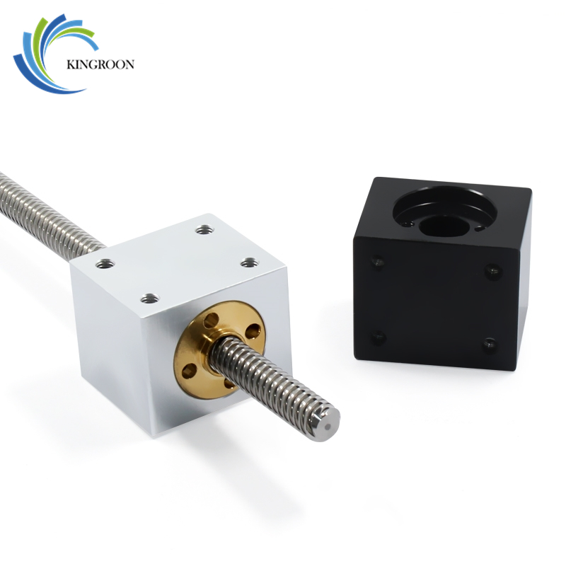 KINGROON Nut Housing Bracket For 8mm T8 Trapezoidal Lead Screw Conversion Nut Seat Aluminum Block 15 3D Printing Parts