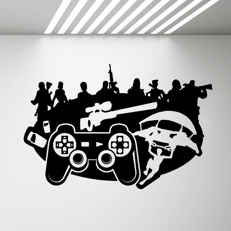 Game Character Wall Sticker Bedroom Ps4 X-box Vinyl Wall Decal for Boys Children's Room Decoration Video Game Art Stickers D898