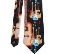 Tailor Smith Mens Fancy Music Theme Tie Pure Silk Printed Suit Dress Casual Party Necktie Cravat