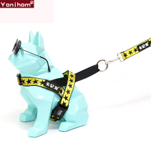 Fashion Dog Harness Easy On and Off Adjustable Medium Small Dogs Leash Running for Vest Pet Lead