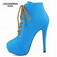 Осенне-зимние пикантные женские ботинки на очень высоком тонком каблуке 11 см, модные женские ботинки из PU искусственной кожи с квадратным н...