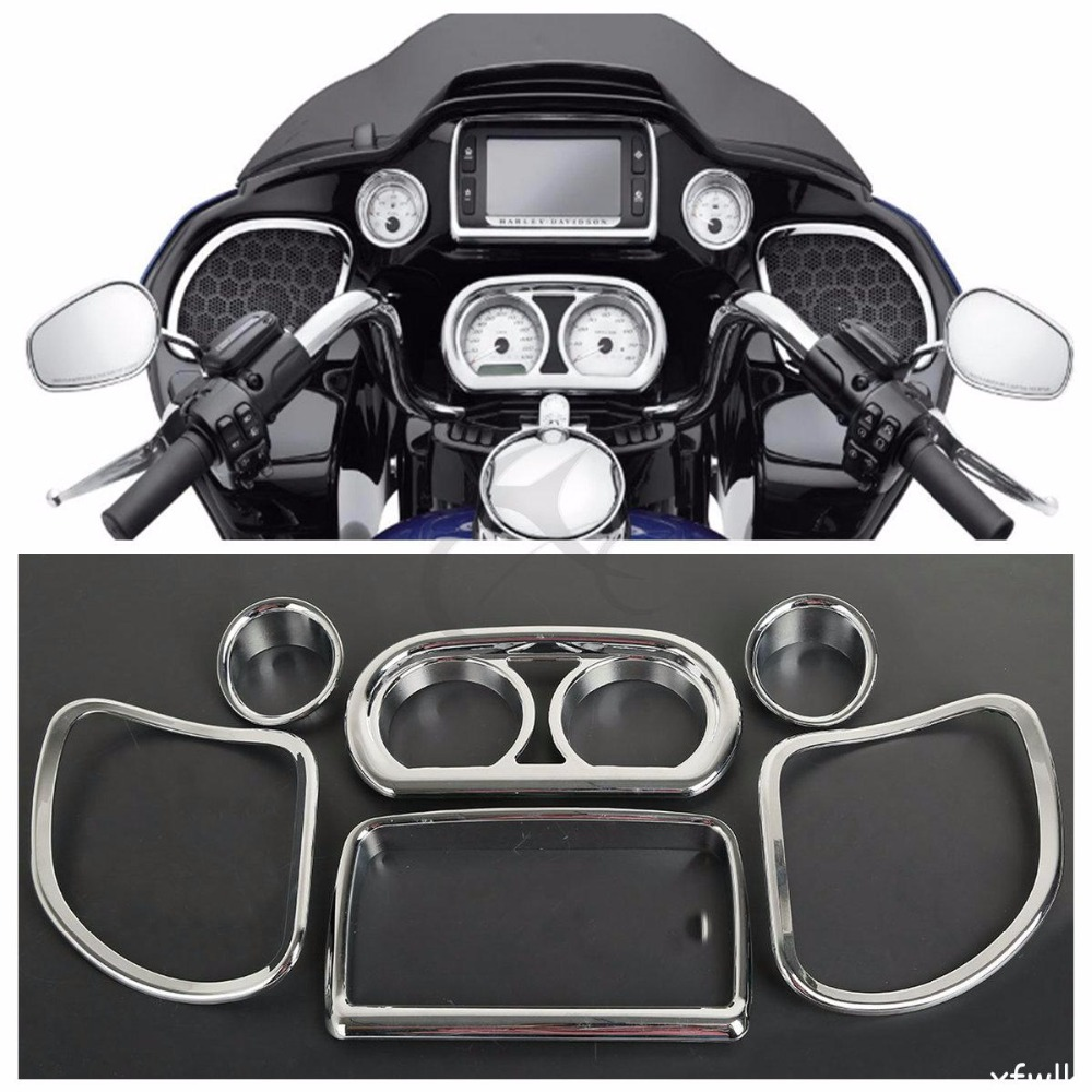 Inner Fairing Speedometer Radio Speaker Trim Kit For Harley Road Glide FLTRX FLTRXS 2015-2017 inner fairing speedometer radio speaker trim kit for harley road glide 2015 2017 fltrx fltrxs
