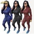 Adogirl 2016 Mamelucos Para Mujer Mono Atractivo V Profundo Bule Rayas Elásticos Suaves Cuerpos Damas Traje de Algodón de Las Mujeres Zip Overoles