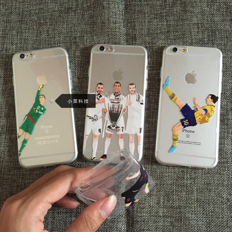 Basketball star Cristiano Ronaldo Wayne Rooney phone cover for iphone 5 5s se 6 6s 6plus 6 plus 7 7 plus Transparent TPU Case