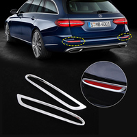 New 1Pair ABS Chrome Rear Tail Fog Light Frame Trim Lamp Covers Fit For Mercedes Benz