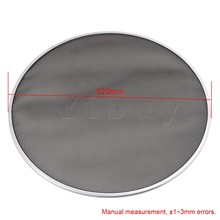 Yibuy 320mm Diameter Black Single Ply Mesh Silent Drum Head Drum Skins Percussion Accessories for 12nch Drum Kit Set