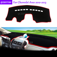 For Chevrolet Aveo 2010 2013 Dashboard Mat Protective Interior Photophobism Pad Shade Cushion Car Styling Auto