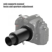Tubo de extensión telescópico de 1,25 pulgadas M42 rosca adaptador de montaje en T anillo T2 para tubo de extensión de cámara Nikon