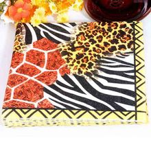 Min Order is $5,Food-grade Wedding Cartoon Leopard Print Napkin Festive & Party Tissue Supply Decoration 1pack
