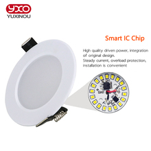 1pcs Dimmable Waterproof LED Downlight AC110V 220V 7W/9W/12W/15W/18W/25W/50W LED Bulb Light Recessed LED Spot Light For Bathroom