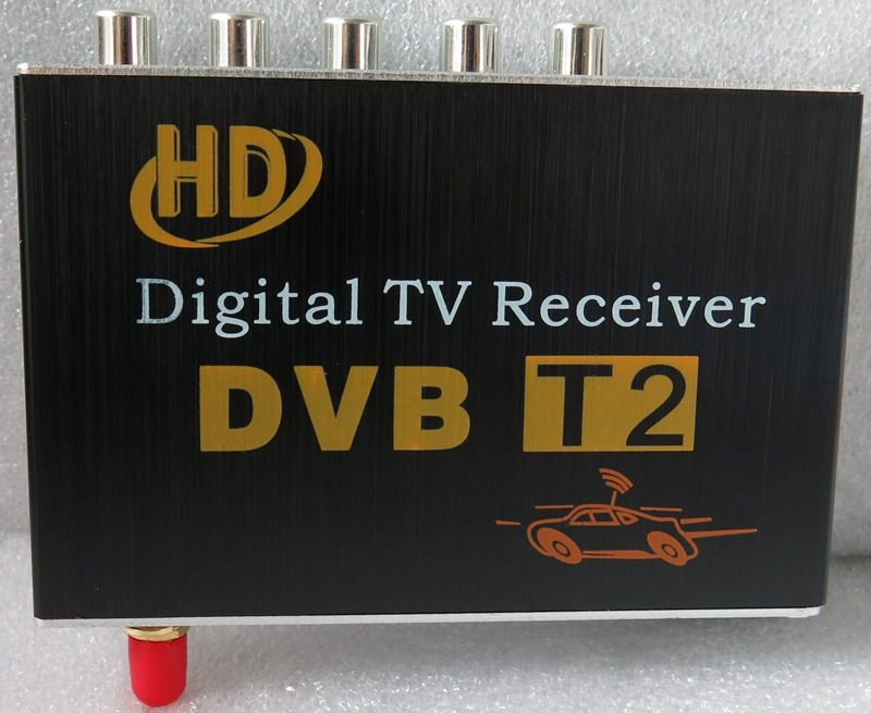 Ouchuangbo HD DVB-T2 récepteur de télévision numérique de voiture tunner support60-100KM/H travail espagnol en afrique antenne unique