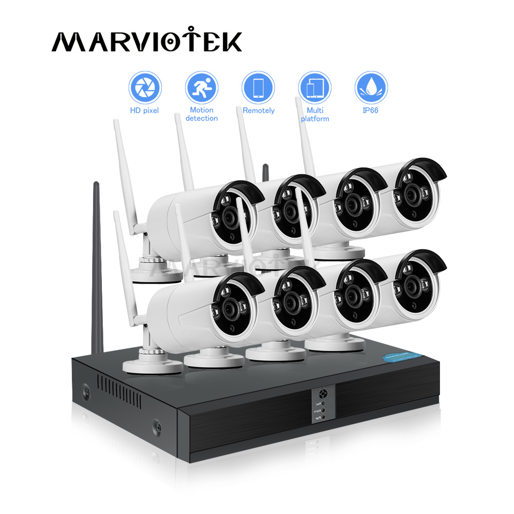 Home camera security system wifi camera set 1080P IP Camera Wifi DVR Kit CCTV Camera System
